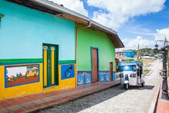 The colorful streets of Gutatape, Antioquia. Colombia Royalty Free Stock Image