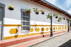 The colorful streets of Gutatape, Antioquia. Colombia Stock Photos