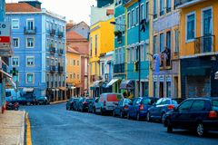Colorful Streets of Lisbon stock photo