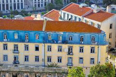 Colorful Streets of Lisbon, view from Saint Jorge Castle lookout royalty free stock photography