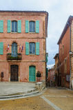 Colorful streets in Roussillon, Provence, France Royalty Free Stock Photo
