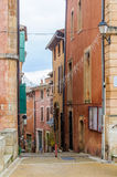 Colorful streets in Roussillon, Provence, France Stock Image