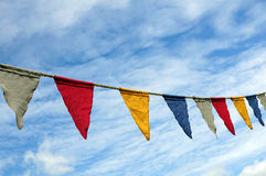 Colorful string of flags Royalty Free Stock Image
