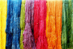 Colorful string silk luxury clothing material Stock Image