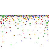 Colorful strip celebration background with confetti. Royalty Free Stock Photography