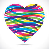 Colorful strip heart Royalty Free Stock Images