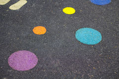 Colorful strip on street in playground Royalty Free Stock Photo