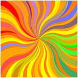 Colorful stripe burst background (vector) Stock Photos