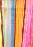 Colorful stripe cord background. Colorful stripe cord of loincloth background Royalty Free Stock Photo