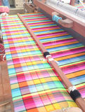 Colorful stripe cord on loom Stock Image