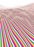 Colorful stripe hills Royalty Free Stock Photo