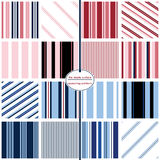 Seamless Repeating Patterns - 16 Colorful Stripe Seamless Repeating Patterns Royalty Free Stock Photos