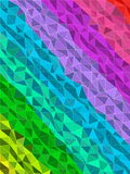 Colorful stripe in triangles pattern with line texture Royalty Free Stock Image