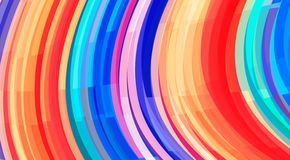 Colorful striped background. Vector pattern with wavy stripes stock illustration