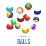Colorful Striped balls. 3d Spheres. Balls isolated on white background. Vector Stock Images