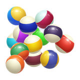 Colorful Striped balls. 3d Spheres. Balls isolated on white background. Vector Stock Photography