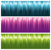 Colorful striped banners Stock Photos
