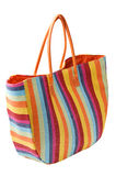 Colorful striped beach bag Royalty Free Stock Photography