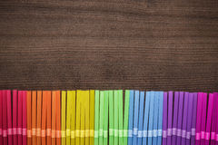 Colorful striped bendy cocktail straws Stock Image
