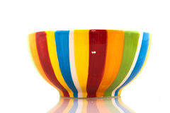 Colorful striped bowl Royalty Free Stock Photography