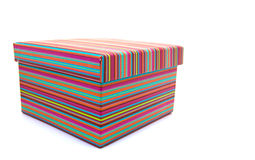 Colorful striped box Stock Image