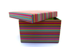 Colorful striped box Royalty Free Stock Images
