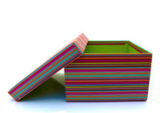 Colorful striped box Stock Photos