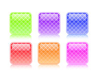 Colorful striped button icon Royalty Free Stock Photos