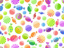 Colorful striped candy seamless pattern. On white background