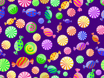 Colorful striped candy seamless pattern Royalty Free Stock Photos
