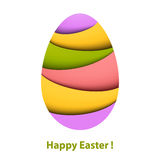 Colorful striped easter egg Stock Image