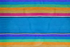 Colorful striped fabric background, texture of beach chair stock image