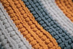 Floor mat texture. Colorful striped floor mat texture royalty free stock photography