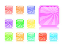 Colorful striped glossy web buttons Royalty Free Stock Photos