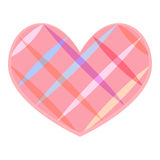 Colorful striped heart symbol Royalty Free Stock Images