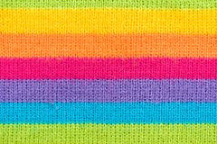 Colorful striped knitted wool Royalty Free Stock Photography