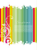 Colorful striped line background with sample text Stock Photos