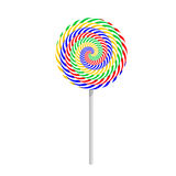 Colorful striped lollipop Royalty Free Stock Photos