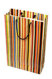 Colorful striped paperbag Stock Photography