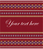 Colorful striped pattern on burgundy background Royalty Free Stock Images