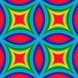 Colorful  Striped  Pattern of Concave Rectangles. Royalty Free Stock Photo