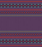Colorful striped pattern on purple  background Stock Photography