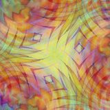 Colorful Striped Patterns 1. A tie dyed zigzag watercolor texture pattern with a great mix of colors Stock Photography
