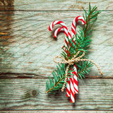 Colorful striped red and white candy canes Royalty Free Stock Photos