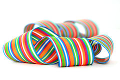 Colorful striped ribbons Stock Image