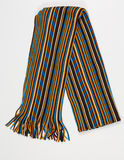 Colorful striped scarf on a white background stock photos