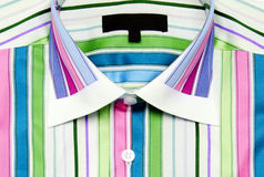 Colorful striped shirt isolated Stock Photography