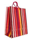 Colorful striped shopping bag Royalty Free Stock Images