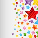 Colorful striped stars background, abstract design pattern Stock Photo