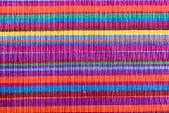 Colorful striped table cloth Royalty Free Stock Images